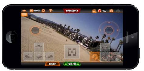 управление  Parrot AR. Drone 2.0